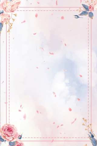 夏至粉色花朵花瓣中国风海报背景