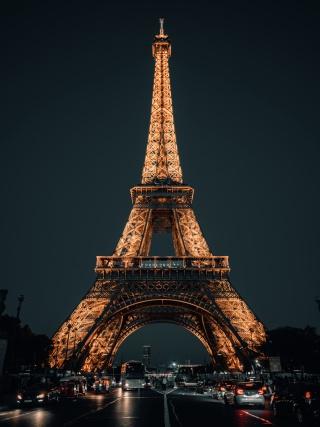 埃菲尔铁塔夜景高清图片