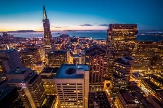 旧金山唯美城市夜景图片