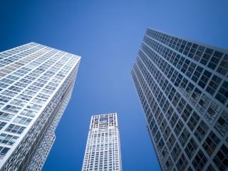 城市建筑系列之建筑群体仰视图