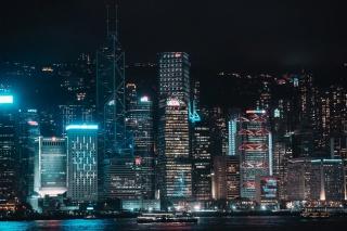 高楼建筑夜景图片