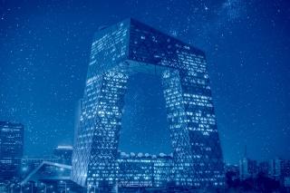 中央电视台大楼外观图片