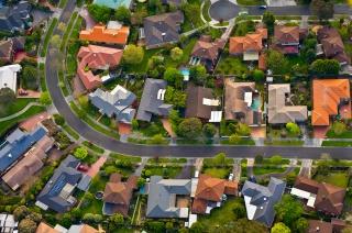 别墅建筑俯视高清图片