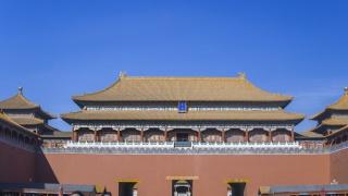 北京紫禁城正门午门建筑群图片